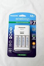 New Panasonic eneloop Charger & 4 AA NiMH 2000mAh Rechargeable Batteries