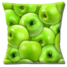 "NEW NOVELTY MULTIPLE GREEN APPLES PHOTO PRINT DESIGN  16"" Pillow Cushion Cover"