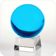 """Aqua Crystal Ball 60mm 2.3"""" Include Crystal Stand and Gift Package"""