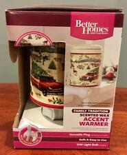NEW Better Homes & Gardens Scented Wax Accent Warmer Family Tradition Christmas
