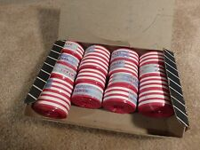"Vintage 1960's - NOS - ""GEM"" Plastic Bar Tape -  Red / White Stripe"