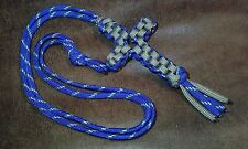 Handmade(Square-Knotted)550 paracord Cross Necklace/Nickel-alloy bead/pop-clasp