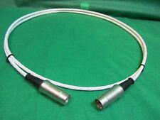 2 ft SILVER PLATED 5 Pin  MIDI SYNCHRO Cable W/ Neutrik Connectors.