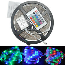3528 RGB SMD 5M 300LEDs Waterproof LED Strip Light & 24key IR Remote Controller