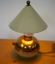Vintage 1930's Art Deco Chase Style Copper Cream Chrome Small Table Desk Lamp