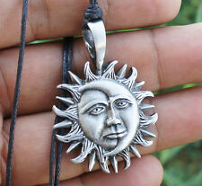 Sun Moon Eclipse Gypsy Tarot Magic Wiccan Pagan Vintage inspired Pewter Pendant