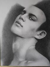MALE PORTRAIT DRAWING...GRAPHITE PENCILS...11 X 14 INCHES..FREE SHIP