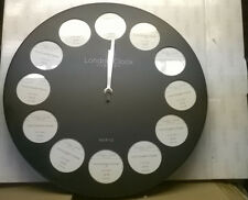 WALL CLOCK with 12 picture holders (frames )