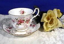 Royal Albert Lavender Rose 2 teil. Kaffeetasse Tasse Porzellan Goldrand Landhaus