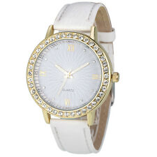 8 Colors Geneva Women's Golden Diamond Watch Strap Leather Quartz Wrist Watches