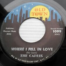 CAPRIS Where I Fell In Love / Some People Think VG+ Doo Wop 45 ORIGINAL c2259