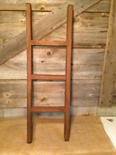 PRIMITIVE BARN RED 3 FT. STRAIGHT  LADDER/Country/Rustic/Distressed/Old/Worn
