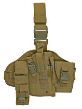Adjustable MOLLE Assembled Coyote Tan Drop Leg Holster Medium Large Guns Pistols