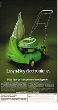 PUBLICITE ADVERTISING 014   1974   FENWICK  tondeuse LAWN-BOY   éléctrique