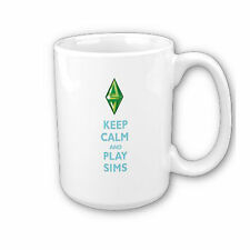 The Sims 3 Keep Calm And Play Sims Mug / Cup 11oz Game/Geek *Fast Free Postage*