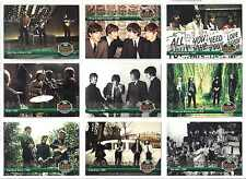 BEATLES ** RARE SET OF TEN #1 HITS DOUBLE-SIDED FOIL CARDS ** 1993 RIVER GROUP