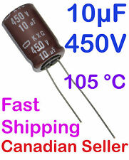 2pcs 10uF 450V 12.5x20mm Nippon KXG For PC TV AUDIO STEREO TFT LCD ACL VIDEO PS
