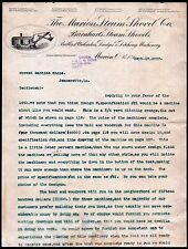 1900 Marion Steam Shovel Co - Ohio - Vintage Caterpiller Equipment Letter Head