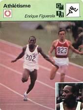 FICHE CARD: Enrique Figuerola (202) CUBA 100 m Relais 4 x 100 m Athlétisme 1970s