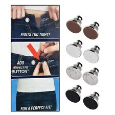 8Pcs Button Perfect Fit to Any Jeans Pants Increase Reduce Waist Replace LO