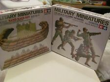 Military miniatures Tamiya Sand Bags Set & U S Army Infantry NEW SEALED