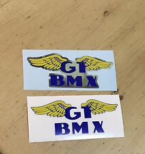 GT BMX WING  Decal (You Choose 1 either on Chrome or Clear Background)