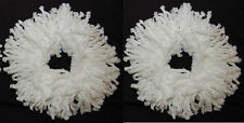 2 White Replacement Mop Head Refill For Magic Mop 360° Spin Mop Mophead USA Ship