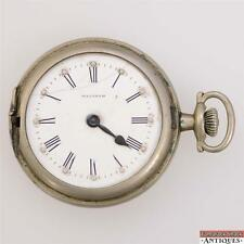 1927 Waltham Traveler 16s 7j Pocket Watch Braille Dial for Parts or Repair 12365