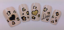 Nail Art Water Transfer Sticker Lovely Heart Fashion Decals Natural/False Nails