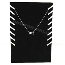 New Black Velvet Jewellery Necklace Chain Pendant Display Show Holder Stand