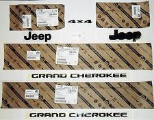 OEM MOPAR 2014-17 GRAND CHEROKEE ALL BLACK OUT NAMEPLATES SET NAMEPLATE EMBLEMS