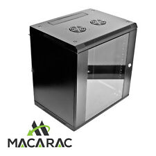 "9RU 600mm DEEP WALL MOUNT 19"" DATA CABINET (Provision for 2 x 240Vac Fan Unit)"