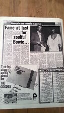 DAVID BOWIE and CHER in New York 1975 UK ARTICLE / clipping