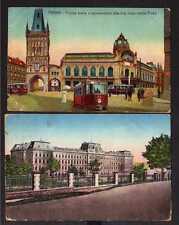 103433 2 AK Prag Praha um 1910 Straßenbahn