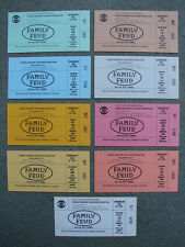 FAMILY FEUD Starring RAY COMBS 1 SINGLE Original 1992 Ticket CBS TV HOLLYWOOD