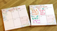 Mini Home Office Weekly Journal Schedule Planner Memo Note Pad Work Note #UK