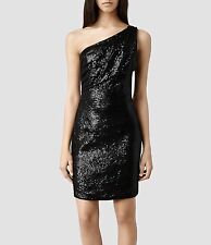 "**ALLSAINTS ""CASSIS"" ONE SHOULDER BLACK DRESS SIZE ""10"" (US)/""14""(UK) WITH TAGS!"