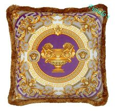 "Versace La Coupe Des Dieux Medusa Pillow - 17.7"" - Purple"