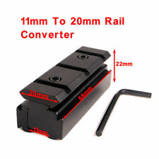 Riser Base 11mm Dovetail to 20mm Picatinny Rail Converter 11/20mm Adapter Rifle