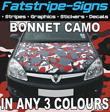 CAR VINYL CAMO BONNET WRAP ANY 3 COLOURS GRAPHICS DECALS STICKERS FITS ANY CAR