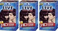 3X Schwarzkopf Live XXL Permanent Hair Colour 888 Damson Wine