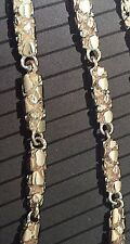 "104kt solid gold handmade NUGGET link chain/necklace 22"" 50 grams 4.5 MM"