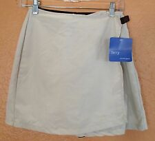 Terry Bicycling Racer Skort Skirt Cycling wrap with shorts/Chamois NWT Sz Medium