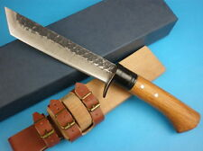 "Sharp 59HRC ""The forging pattern steel"" JUNGLE survival hunting RESCUE knife"