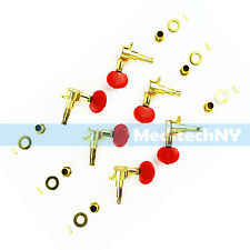3L3R Acoustic Guitar String Enclosed Tuning Pegs Tuners Keys Machine Heads Gold