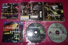 OVERBLOOD 2 ps1 playstation 1 NTSC IMPORT JAP SLPS 01261-2