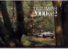 1970 TRIUMPH 2000 Mark 2 British Leyland UK Brochure