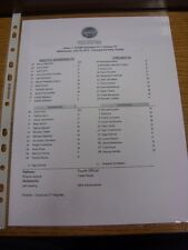 18/07/2012 Teamsheet: Seattle Sounders v Chelsea [World Football Challenge 2012]