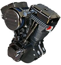 "TWISTED DARK HORSE 110"" STROKER ENGINE EVO HARLEY DYNA SUPER GLIDE LOW RIDER"