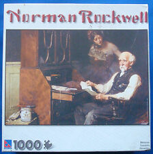 jigsaw puzzle 1000 pc Norman Rockwell Memories man at his desk Sure-Lox